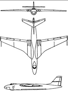 Plan 3 vues du Vickers  Valiant
