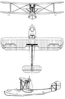 Plan 3 vues du Canadian Vickers  Vedette