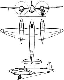 Plan 3 vues du Vickers Type-432