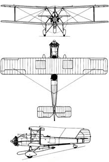 Plan 3 vues du Vickers  Vildebeest