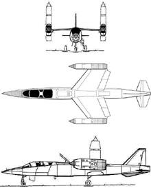 Plan 3 vues du EWR VJ 101 C
