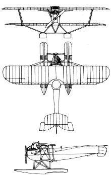 Plan 3 vues du Hansa-Brandenburg W.12