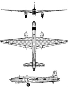 Plan 3 vues du Vickers  Warwick