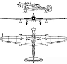 Plan 3 vues du Vickers  Wellesley