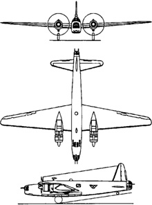 Plan 3 vues du Vickers  Wellington
