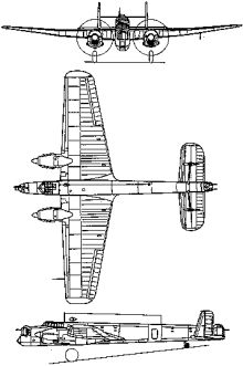 Plan 3 vues du Armstrong Whitworth AW.38 Whitley