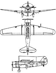 Plan 3 vues du Commonwealth CA-1/CA-16 Wirraway