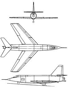 Plan 3 vues du Bell X-2