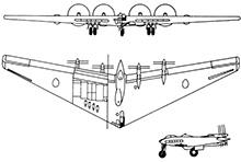 Plan 3 vues du Northrop XB-35/YB-35