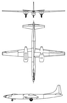 Plan 3 vues du Convair XB-46