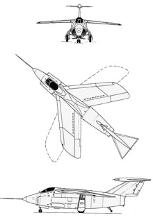 Plan 3 vues du Grumman XF10F Jaguar