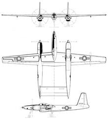 Plan 3 vues du Hugues XF-11