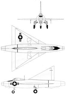 Plan 3 vues du Convair XF-92