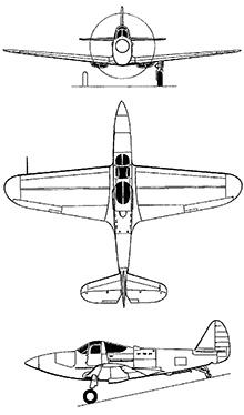 Plan 3 vues du Bell XFL Airabonita