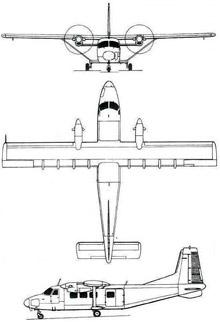 Plan 3 vues du Harbin Y-12