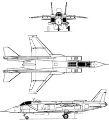 Plan 3 vues du Yakovlev Yak-141  'Freestyle'