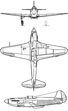 Plan 3 vues du Yakovlev Yak-3