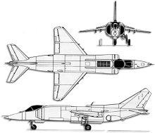 Plan 3 vues du Yakovlev Yak-38  'Forger'