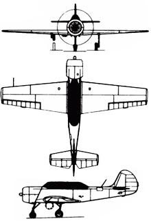 Plan 3 vues du Yakovlev Yak-52
