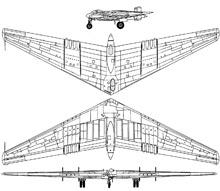 Plan 3 vues du Northrop YB-49 / YRB-49