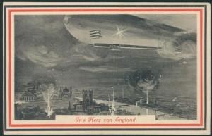 """Carte postale de propagande """"In's herz von England"""" """"Au cœur de l'Angleterre"""""""