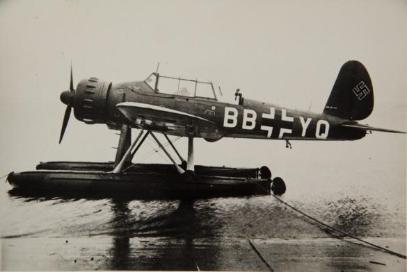 Le très efficace hydravion allemand Arado Ar 196 aux couleurs de la Luftwaffe.