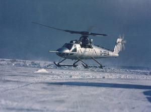 L'hélicoptère expérimental Bölkow Bö 46.