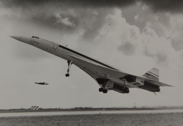Concorde 001 en période d'essais.