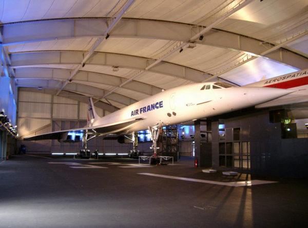 Le Concorde aux couleurs d'Air France préservé au musée du Bourget.