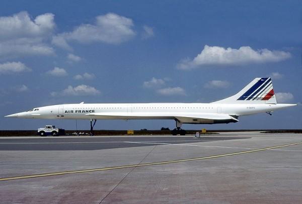 Concorde d'Air France au roulage.