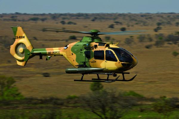 Feu l'Eurocopter EC635, désormais Airbus Helicopters H135M.