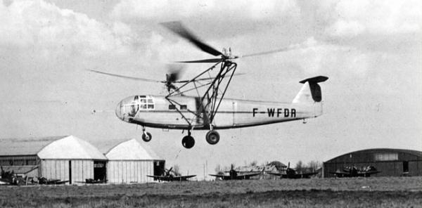 Le SNCASE SE-3000 lors de ses essais en vol.