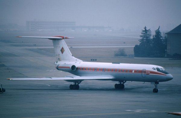 Méconnu à l'ouest, ce Tupolev Tu-134 porta un temps les couleurs ouest-allemandes.