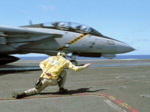 Catapultage d'un F-14 Tomcat