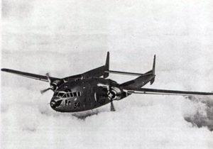Le C-119G belge CP-34 au-dessus des nuages