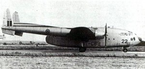 Le C-119 belge CP-22 sur la piste de Melsbroek