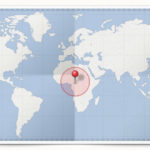 Cocardes des pays d'Afrique Centrale
