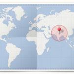 Cocardes des pays d'Asie Méridionale