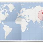Cocardes des pays d'Extrème-Orient
