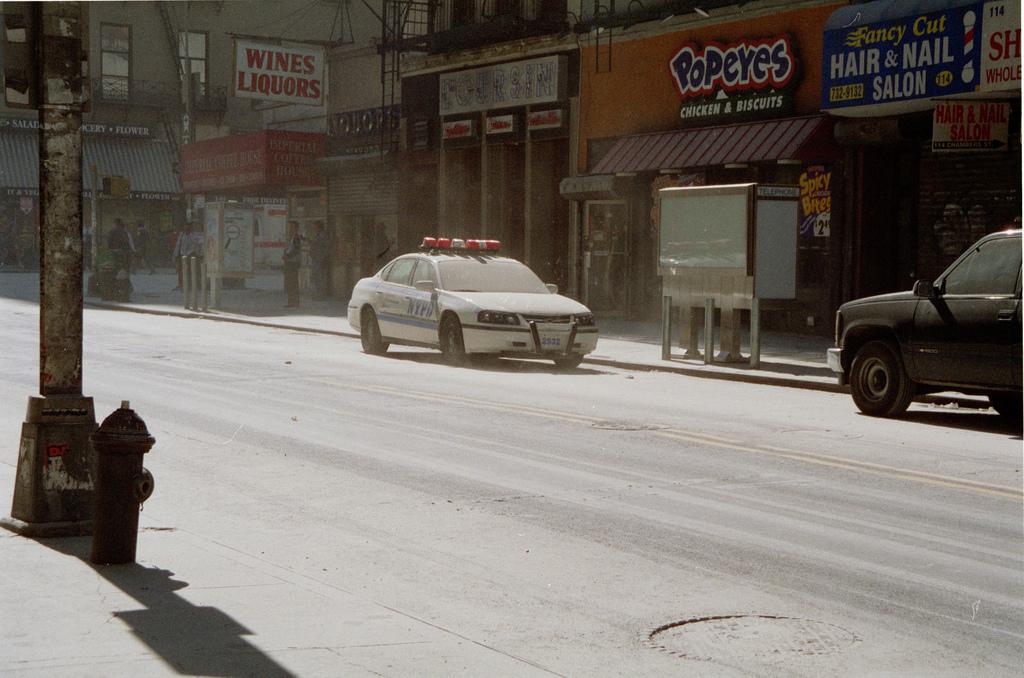 La poussière recouvre les rues de NYC.