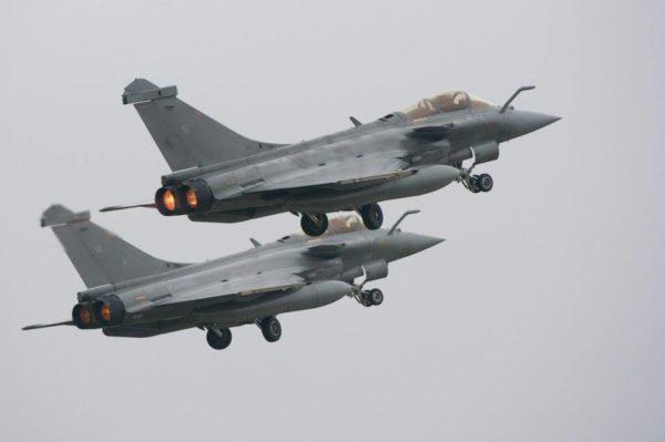 Rafale M au décollage de Lanvisiau.