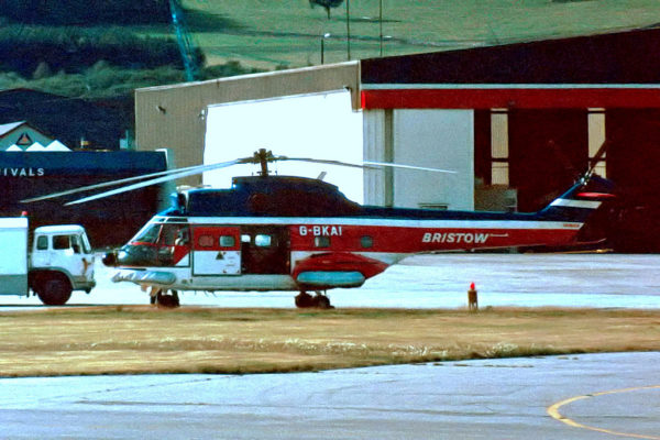 Puma de la compagnie britannique Bristow dans les années 1980.