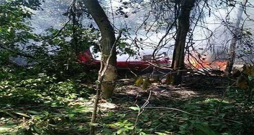 Les restes de l'un des appareils dans la jungle malaisienne