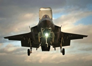 F-35B en vol vertical