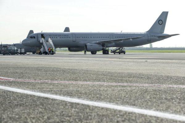 L'A321 de la Composante Air sur le tarmac de Melsbroek.
