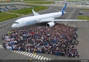 A350 prepare sont premier vol