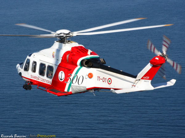 Nouvelle génération d'hélicoptère de secours l'AgustaWestland AW.139.