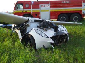 L'AeroMobil 3.0 après son crash.