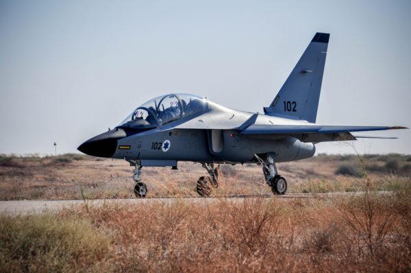 Aermacchi M-346 Lavi, le nouvel avion d'entraînement des pilotes israéliens.