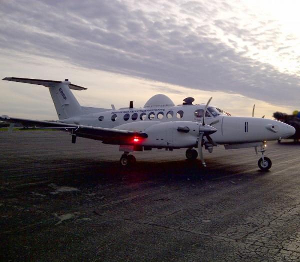 Super King Air 350 appartenant à Boeing et utilisé pour divers campagnes d'essais dont le développement du J-Stars de nouvelle génération.